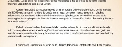 Welcome Letter (Spanish)